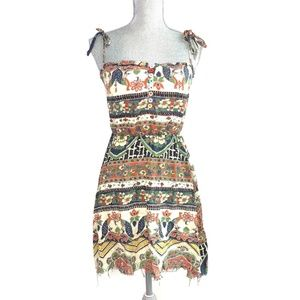 ONE TEASPOON floral peacock print dress #AA10